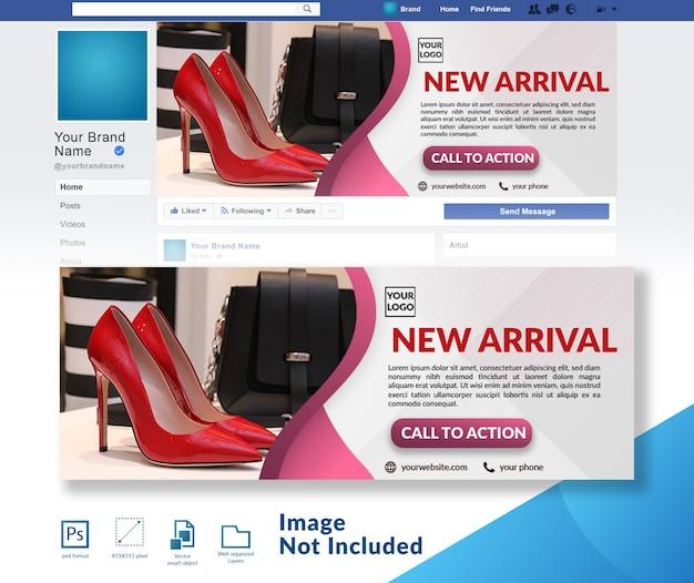 Verkoop winkelen facebook voorbladsjabloon
