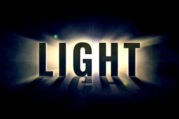 Verlichtend licht teksteffect