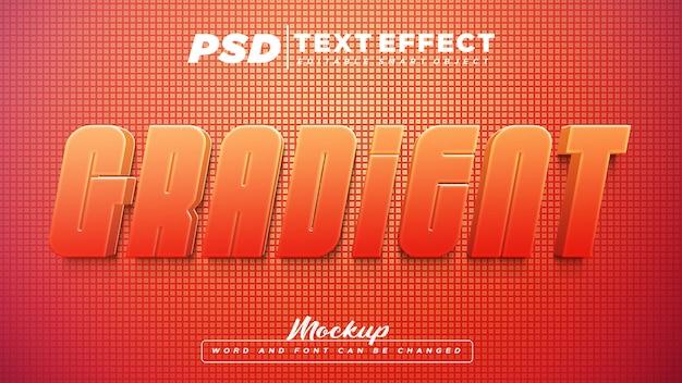 Verloop teksteffect bewerkbare tekst mockup