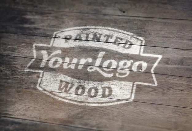 Verniciato bianco su legno mockup psd