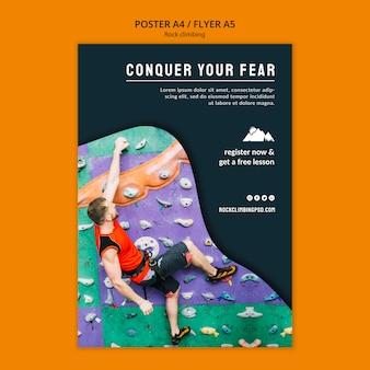 Verover je angst flyer-sjabloon