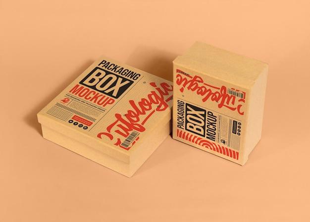 Verpakking kartonnen doos mockup concept