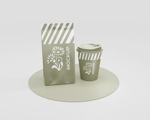 Verpakkingsmodel voor een coffeeshop