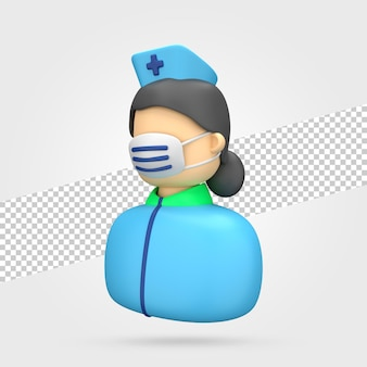 Verpleegster 3d render