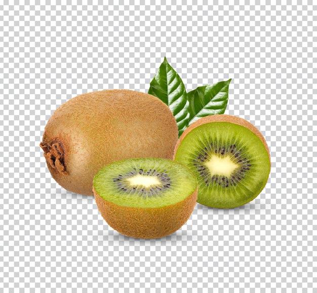 Vers kiwifruit met geïsoleerde bladeren