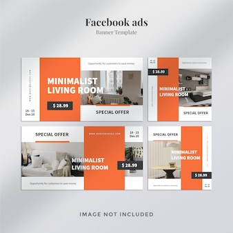 Verschillende facebook-advertentiesjablonen