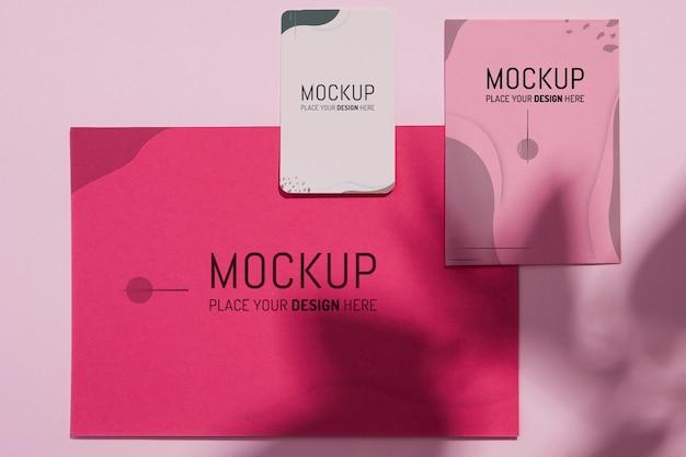 Verschillende mock-ups voor zakelijke briefpapier