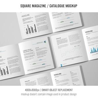 Verschillende vierkante tijdschrift- of catalogusmodellen