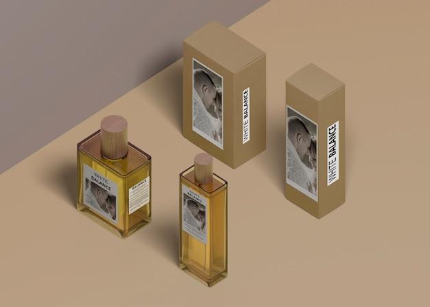 Verschillende vormflessen parfum