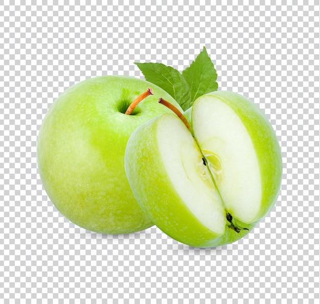 Verse groene appel geïsoleerd premium psd