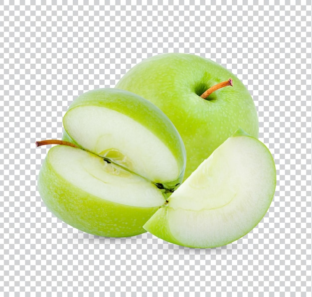 Verse groene geïsoleerde appel