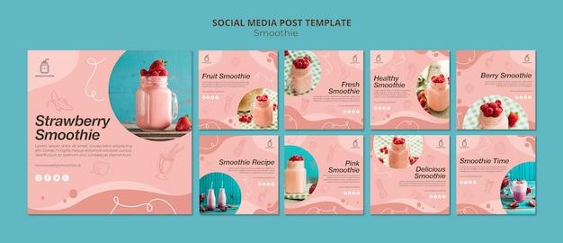 Verse smoothie-berichten op sociale media