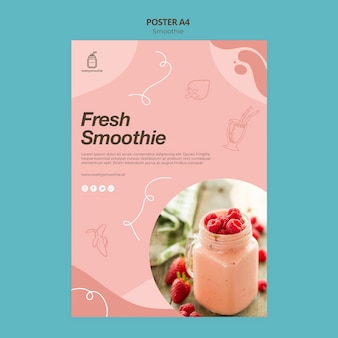 Verse smoothie poster sjabloon