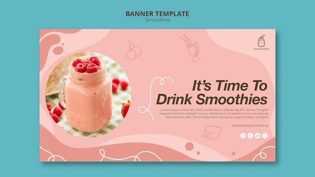 Verse smoothiebanner met foto