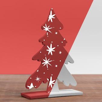 Versierde kerstboom mockup