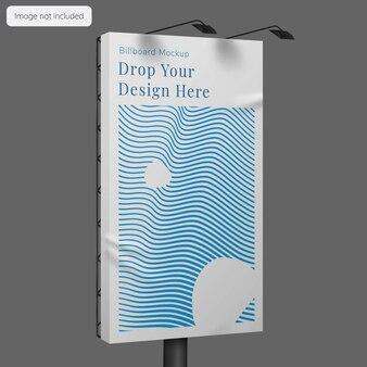 Verticaal billboard mockup ontwerp