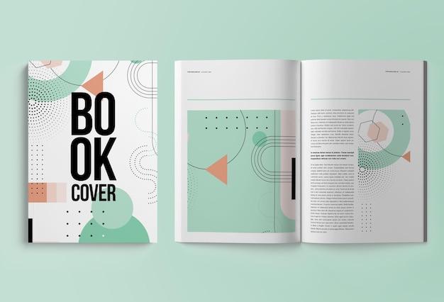 Verticaal geïsoleerd tijdschrift of catalogus a4