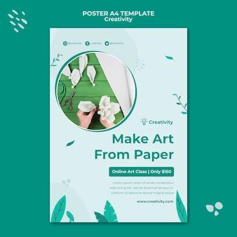 Verticale afdruksjabloon voor papierkunst