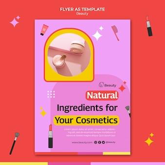 Verticale afdruksjabloon voor schoonheidsproducten