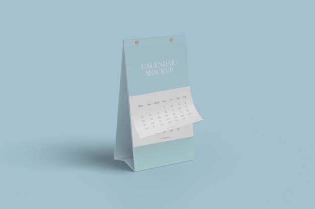 Verticale bureaukalender mockup-ontwerp