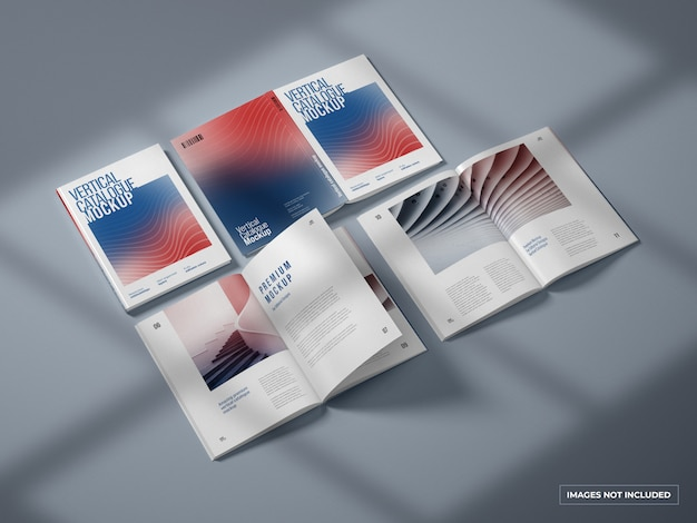 Verticale catalogus en tijdschriftmodel
