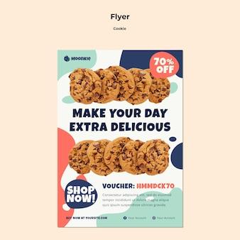 Verticale flyer-sjabloon met cookies