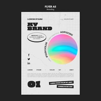 Verticale flyer-sjabloon voor bedrijfsbranding met kleurrijke cirkelvorm