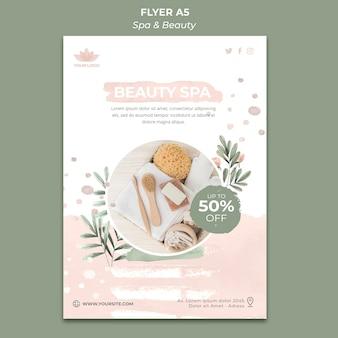 Verticale flyer-sjabloon voor spa en ontspanning