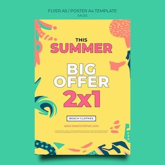 Verticale flyer-sjabloon voor zomerverkoop
