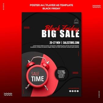 Verticale flyer-sjabloon voor zwarte vrijdag verkoop