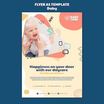 Verticale flyer voor babyverzorgingsprofessionals
