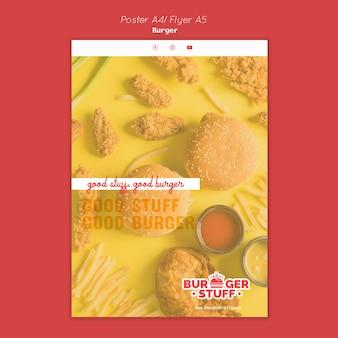 Verticale flyer voor burgerrestaurant