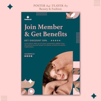 Verticale flyer voor schoonheid en mode voor vrouwen