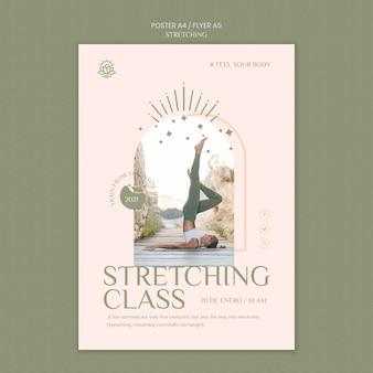 Verticale flyer voor stretchcursus