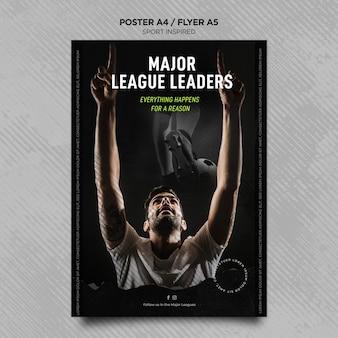 Verticale flyer voor voetbalclub