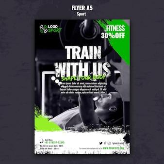 Verticale flyersjabloon voor lichaamsbeweging en gymtraining