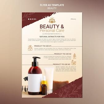 Verticale flyersjabloon voor persoonlijke verzorging en schoonheid