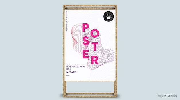 Verticale poster met houten frame
