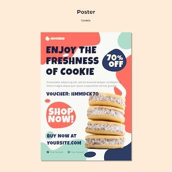 Verticale poster met koekjes