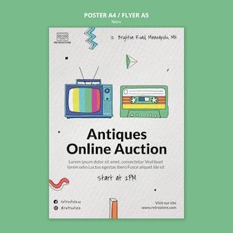 Verticale poster met retro-items