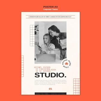 Verticale poster sjabloon voor bedrijfsstudio