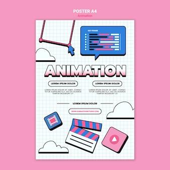 Verticale poster sjabloon voor computeranimatie