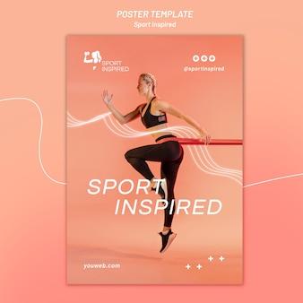 Verticale poster sjabloon voor fitnesstraining