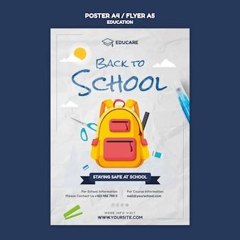 Verticale poster sjabloon voor terug naar school