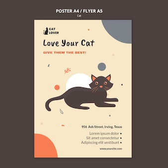 Verticale poster voor adoptie van katten