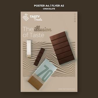 Verticale poster voor chocolade