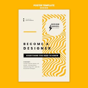 Verticale poster voor cursussen grafisch ontwerp