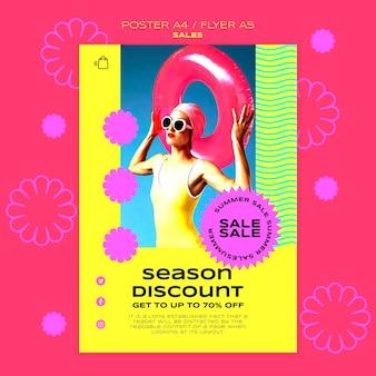 Verticale poster voor de verkoop van het zomerseizoen