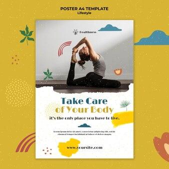 Verticale poster voor een gezonde levensstijl