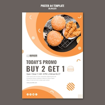 Verticale poster voor hamburgerrestaurant